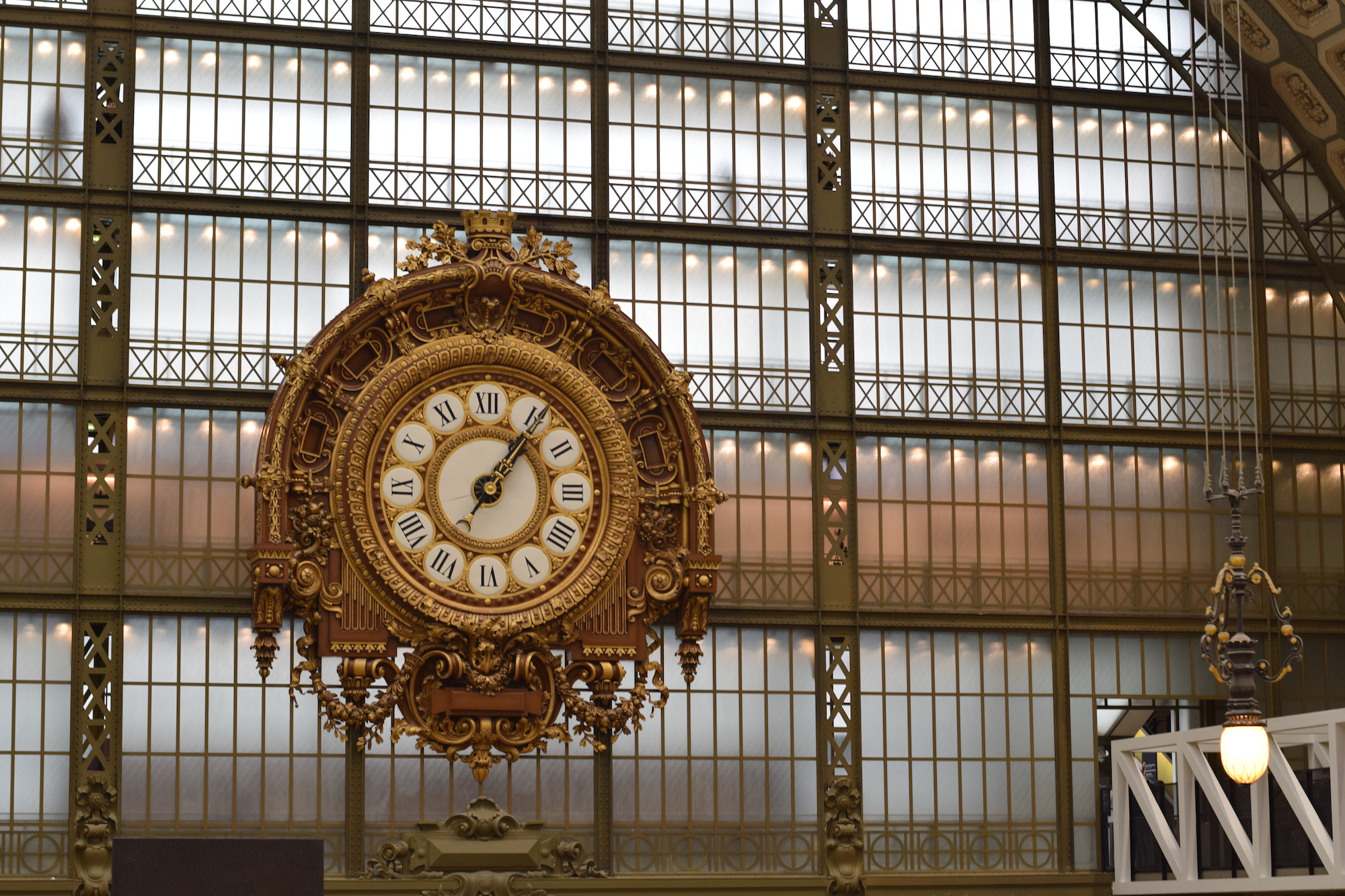 The clock in Musee D'Orsay, Paris.