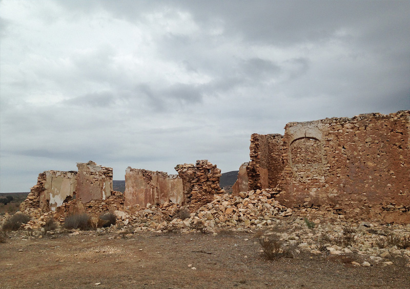 Image of Cabo de Gata's crumbling ruins