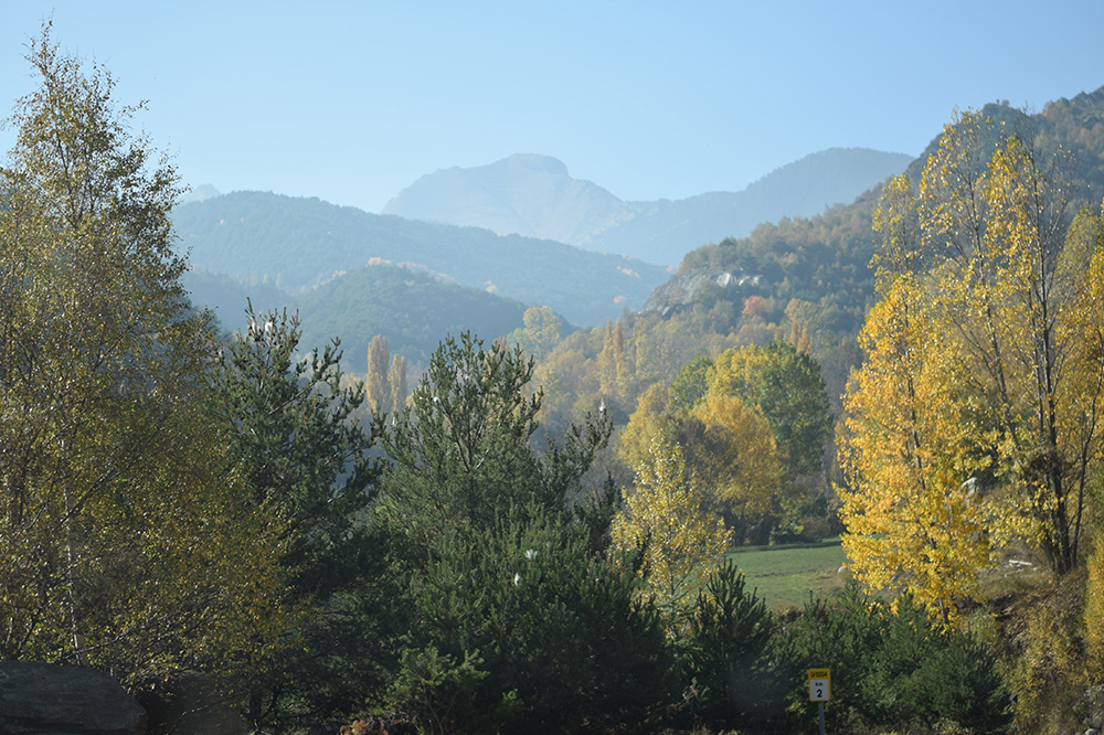 Photo of the Pyrenees in autumn in a village near Espot, Spain.