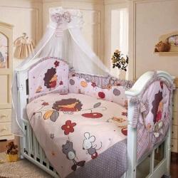 Постельное бельё для новорожденного в кроватку.