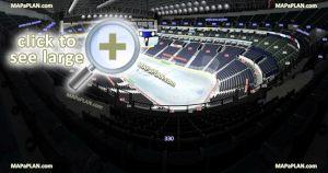 Bridgestone Arena seat & row numbers detailed seating chart, Nashville  MapaPlan