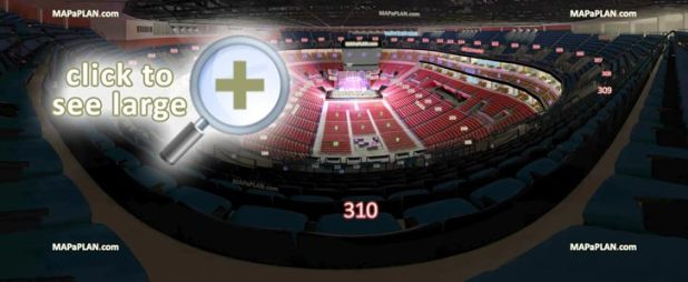 Bb T Center Seating Chart View Section 310 Row 13 Seat 12 Virtual Interactive Behind Stage Interior Tour Venue Inside