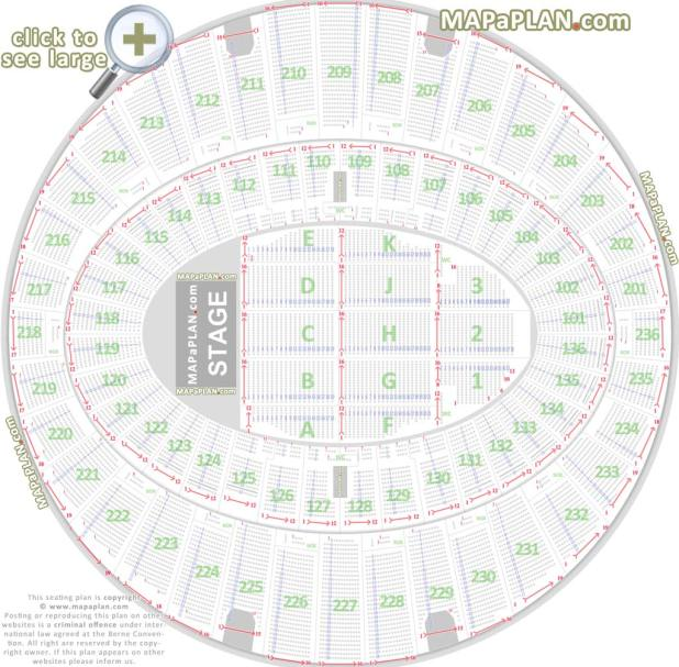 Detailed Seat Numbers Chart With Rows Sections Layout The Forum Inglewood Seating