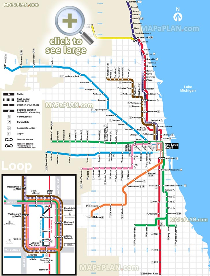 Chicago Tourist Walking Map | Leancy Travel on