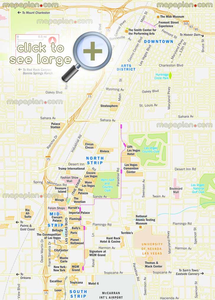 Las Vegas Bus System Map