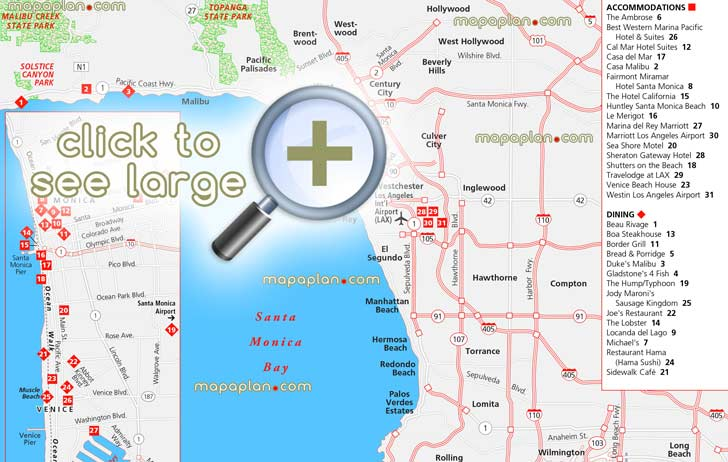 Greater Area Map Malibu California