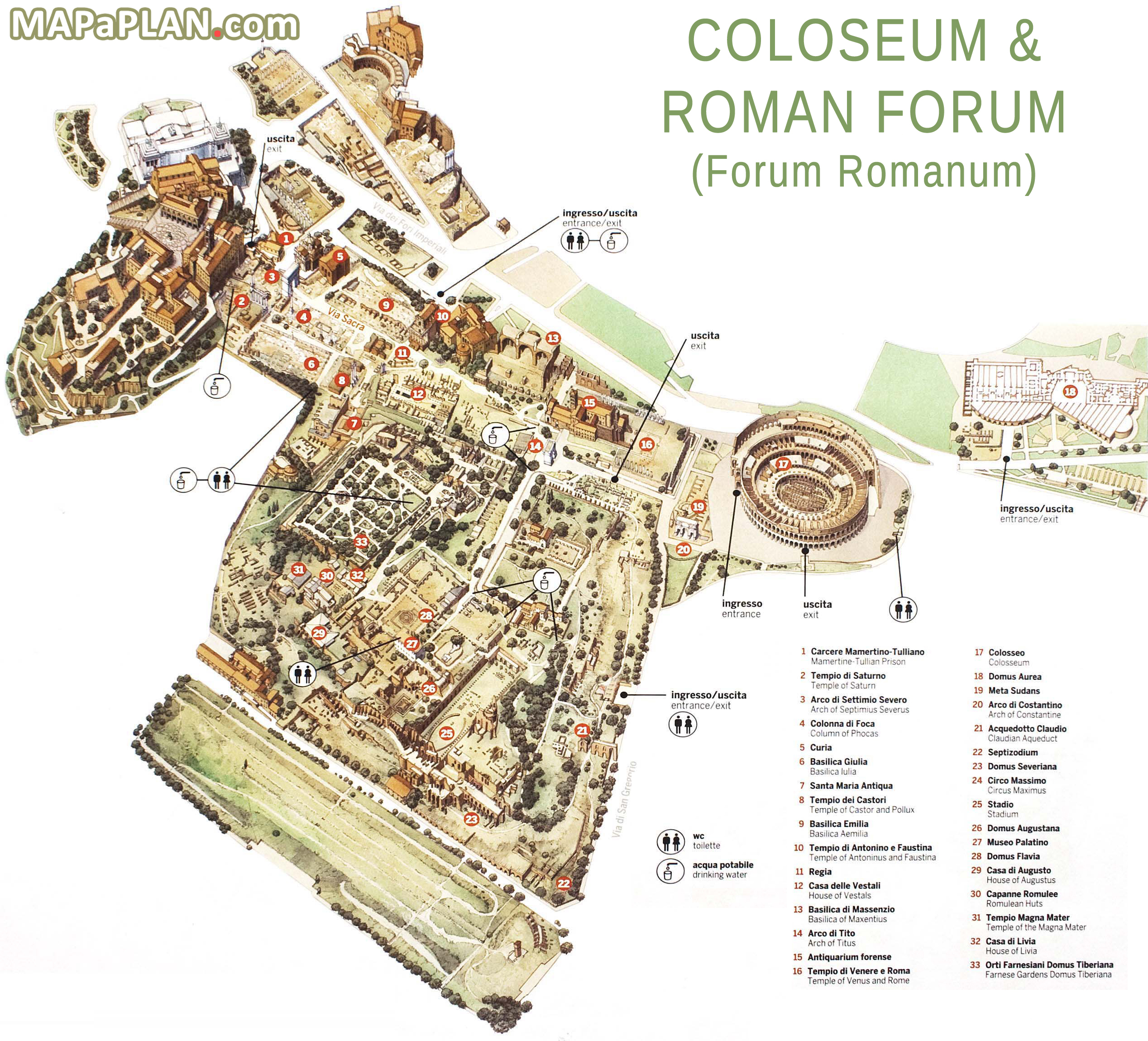 City Imperial Rome Map