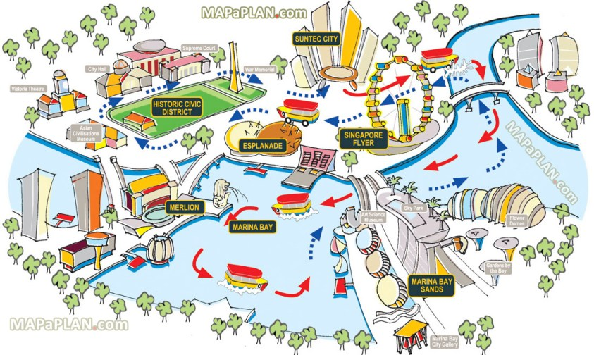 Image result for singapore attraction map