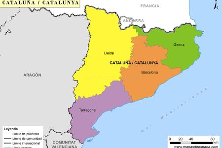 Resultado de imagen de mapa províncies catalunya