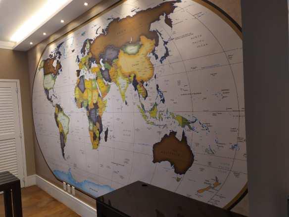Mapa Mundi National Geographic Brasil aplicado
