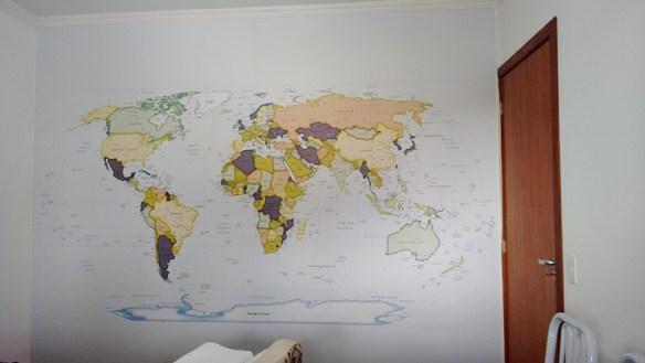 mapa mundi papel de parede poster mapa gigante
