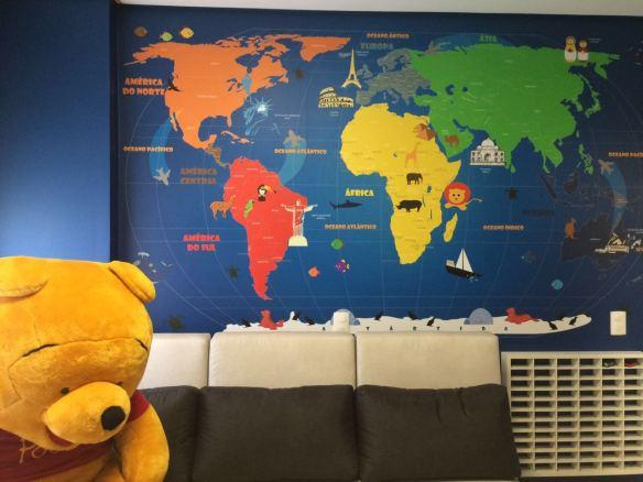 Mapa Mundi Infantil 18-C aplicado