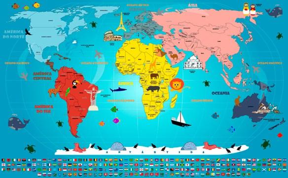 Mapa Mundi Infantil