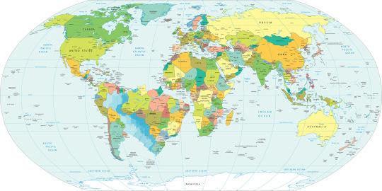 Papel de Parede Mapa Mundi Politico Brasil Ampliado