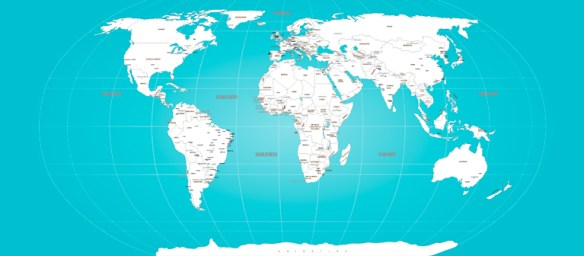 Papel de Parede Mapa Mundi sob medida modelo 26-A1