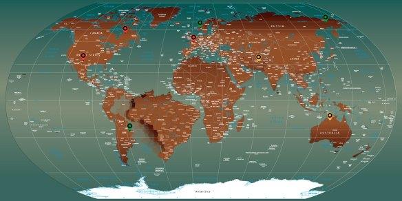mapa mundi imantado