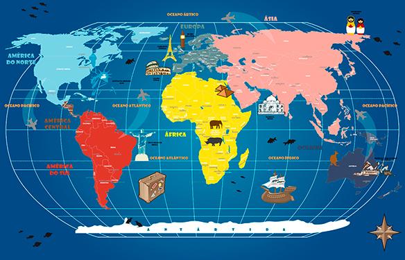 Mapa Mundi Infanto Juvenil 18-C