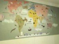 papel de parede infantil aplicado tons pasteis