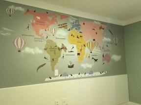 papel de parede infantil tons pasteis quarto criança