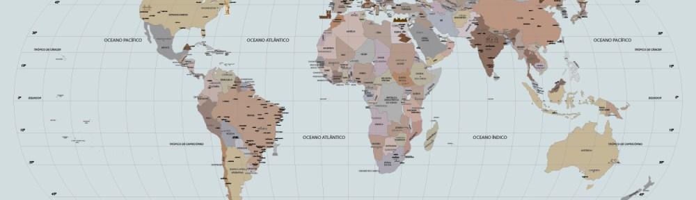 Papel de Parede Mapa Mundi modelo 26-A3