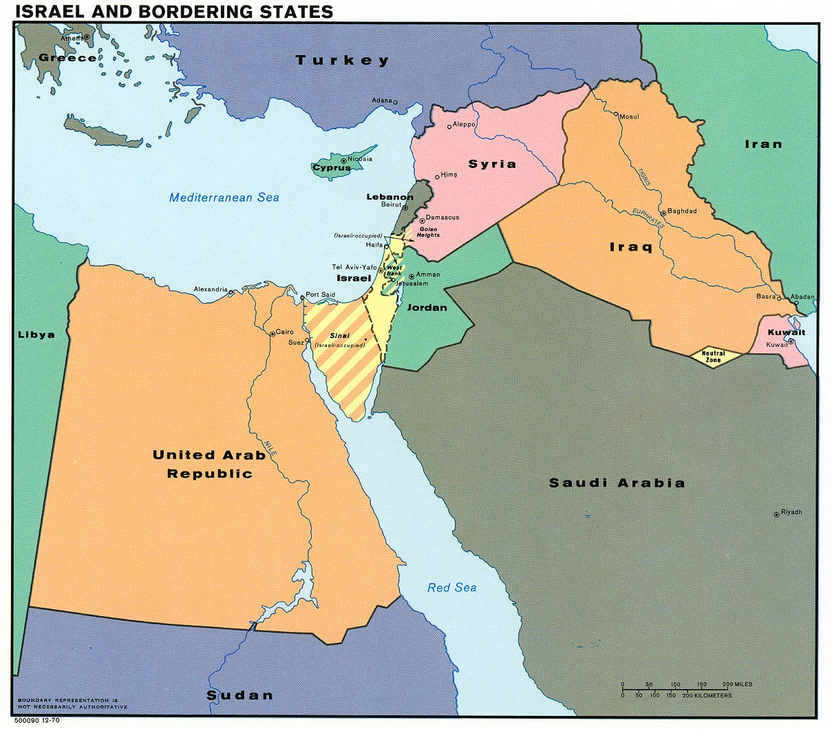 A Map Of The Middle East Map