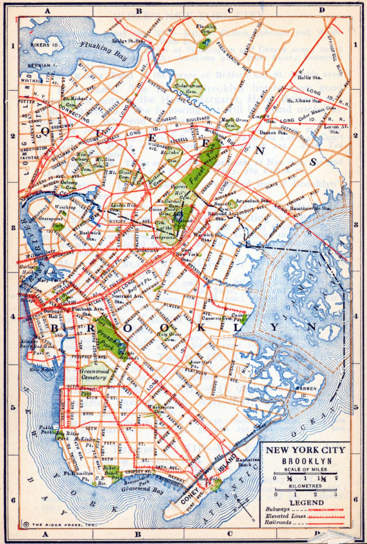 Printable Brooklyn Maps