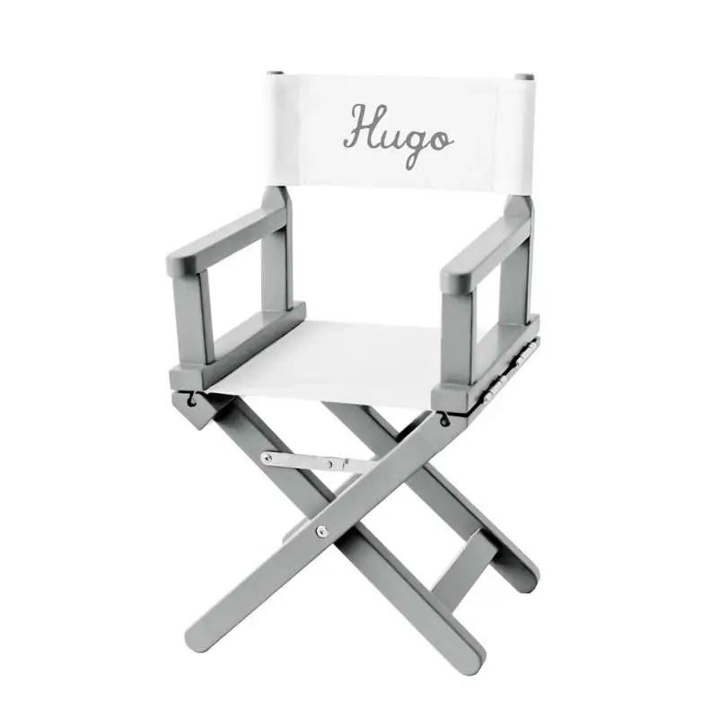 chaise metteur en scene toile unie blanche