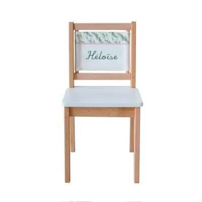 chaise ecolier imprime botanique