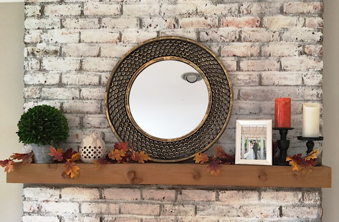 Neutral mantel with a hint of fall