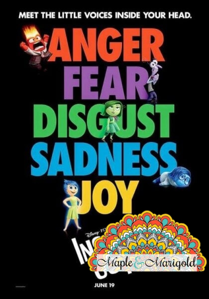 Inside Out movie review   Disney Pixar   Maple and Marigold