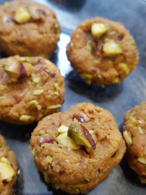 Quick and easy Indian Sweet   Rustic Peda made with Ricotta and roasted Pistachios   Indian Dessert   Festive Sweets and Snacks   Diwali Food   Indian Food   Maple and Marigold