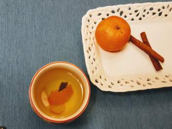 Phlegm-busting Orange Peel Tea