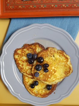 Coconut and Cornmeal Pancakes #CANRecipe