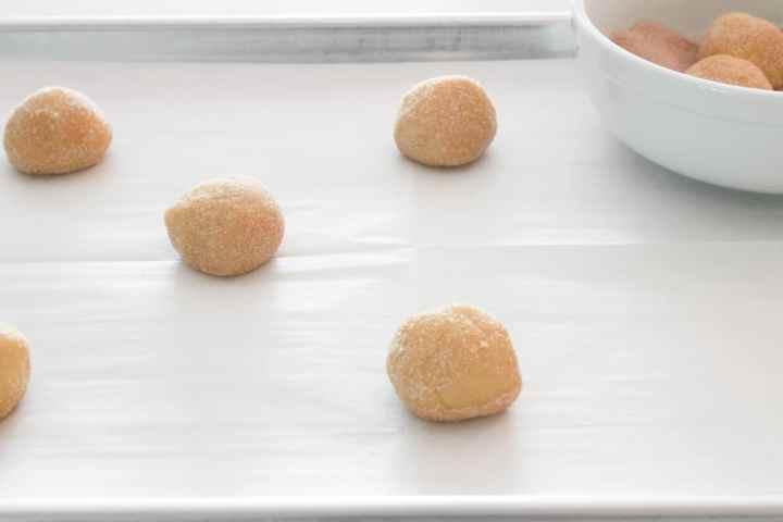 snickerdoodles ready to bake