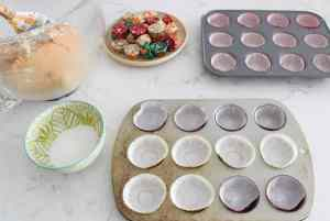 prepared baking pans peanut butter cup cookies