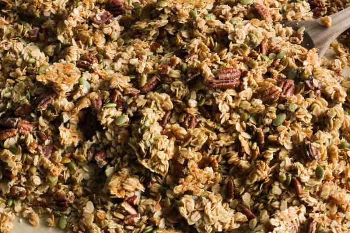 baked maple pecan granola