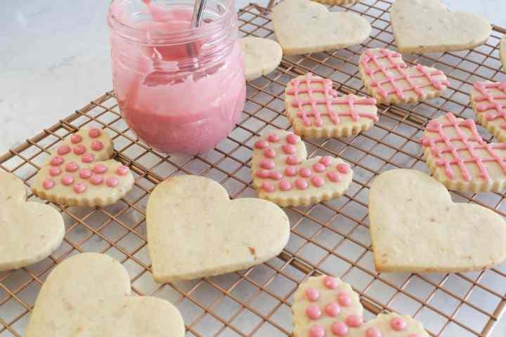 glazing blood orange butter cookies