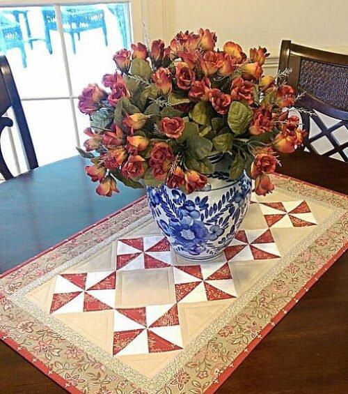 Classic Pinwheels Table Runner