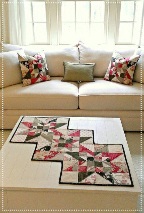 Star Table Runner & Pillow Pattern
