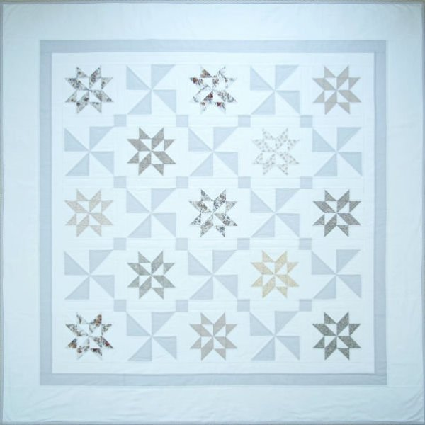Stardust Shimmer Quilt overhead view