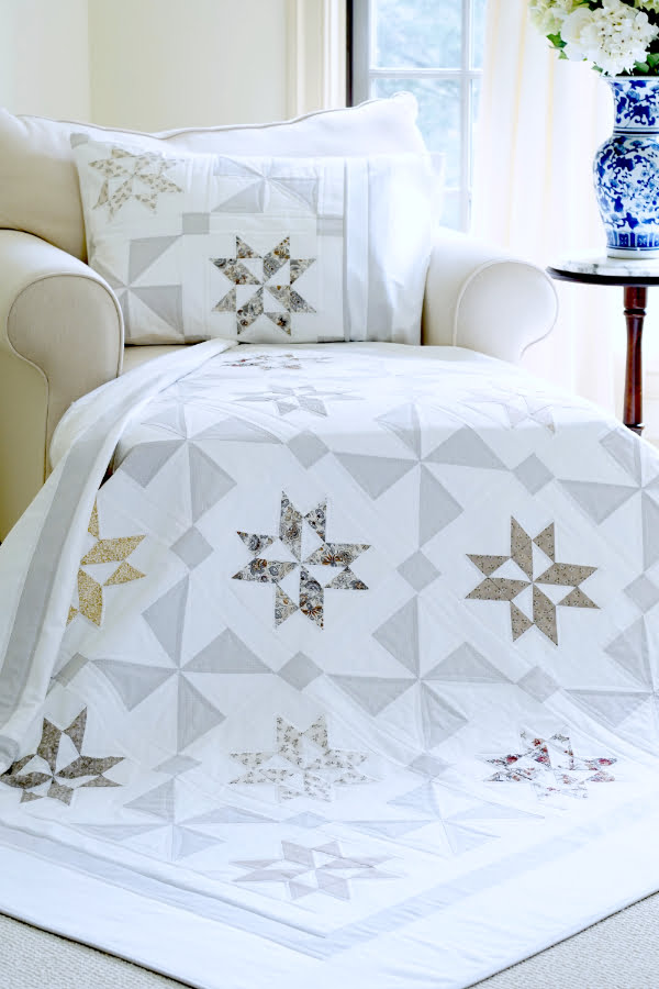 Stardust Shimmer Quilt & Pillow Sham Pattern