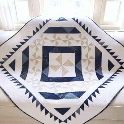 Indigo Snow Quilt Pattern pic 1