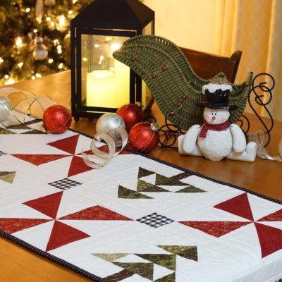 An Evergreen Christmas Table Runner pic 1