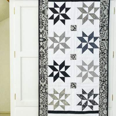 Stylish Star Puzzle Quilt pattern pic 2