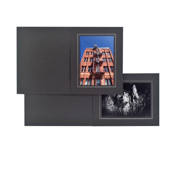 Topaz black slip-in folders
