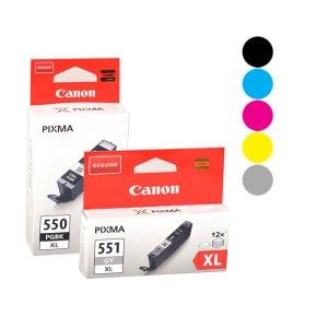 Canon 550/551 inkjet cartridges