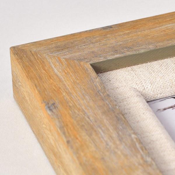 Francesca canvas light wood frame corner