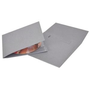 Grey Single CD-DVD Folio