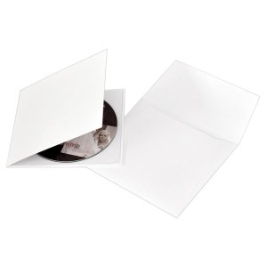 White Single CD-DVD Folio