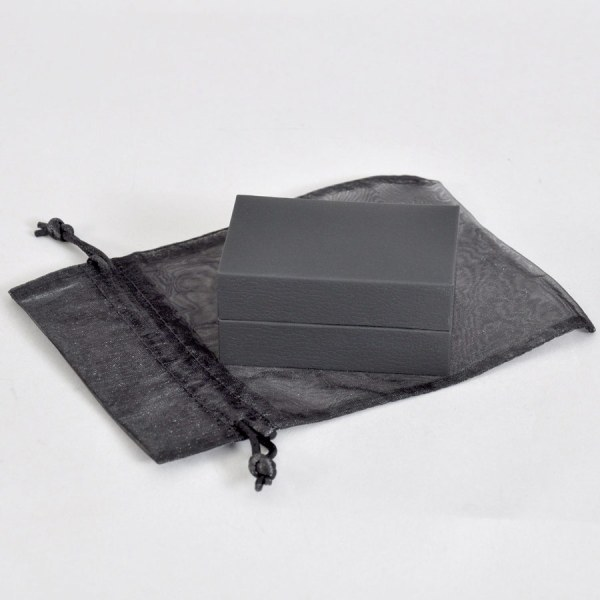Luxury black presentation box with organza bag